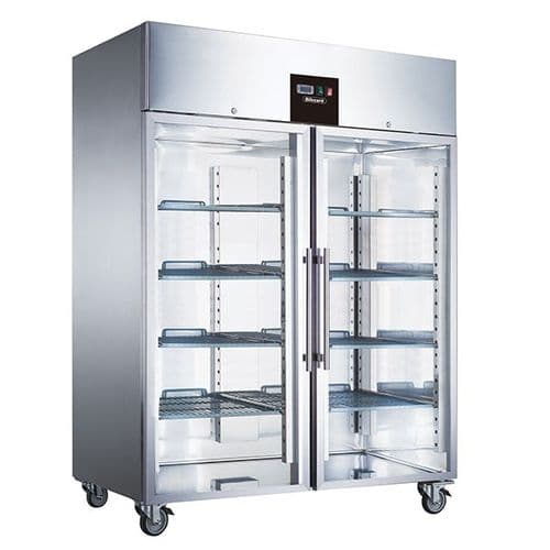 Blizzard Double Glass Door Ventilated GN Freezer 1300L - BF2SSCR